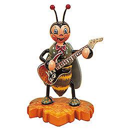 Hummelmännchen mit E-Gitarre - 8 cm
