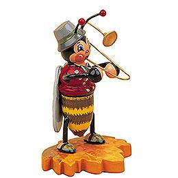 Hummelmännchen mit Posaune - 8 cm