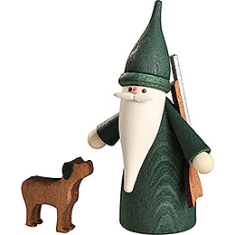 Hunter Gnome with Dog - 7 cm / 2.8 inch