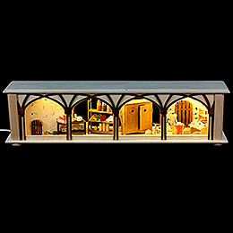 Illuminated Stand Cellar for Candle Arches - 50x12x10 cm / 20x5x4 inch