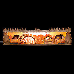 Illuminated Stand Christmas Idyll with Candle Arch - 75x20x15 cm / 29.5x7.9x5.9 inch