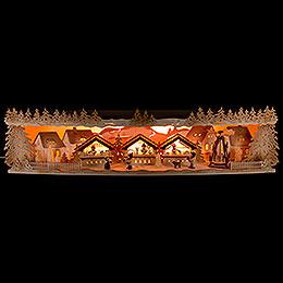 Illuminated Stand Christmas Market - 75x20x15 cm / 29.5x7.9x5.9 inch