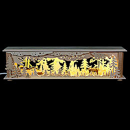 Illuminated Stand Forest with Deer and Foxes for Candle Arches - 50x12x10 cm / 20x5x4 inch