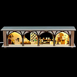 Illuminated Stand Wine Cellar for Candle Arches - 50x12x10 cm / 20x5x4 inch