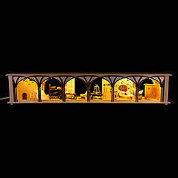 Illuminated Stand for Candle Arches Cellar - 80x15 cm / 31.5x5.9 inch