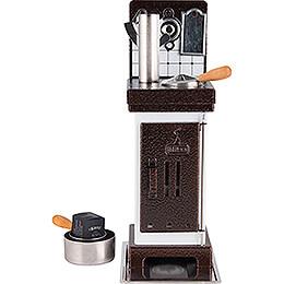 Incense Cones- and Scented Oil Stove White/Copper - 19 cm / 7.5 inch