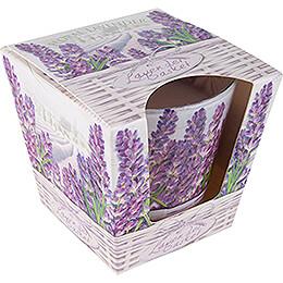 JEKA Scented Candle - Lavender Basket - Floral Lavender - 8,1 cm / 3.2 inch