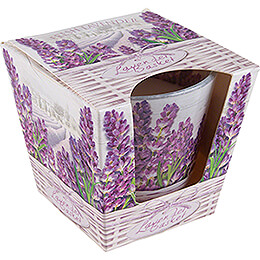 JEKA Scented Candle - Lavender Basket - Fresh Lavender - 8,1 cm / 3.2 inch