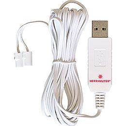 Kabel für USB-Steckernetzteil, 2,5 m weiß