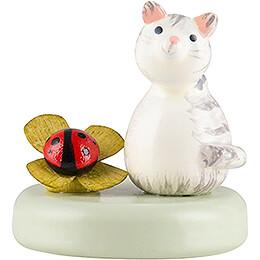 Kätzchen und Marienkäfer - 2,2 cm