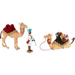 Kameltreiber und zwei Kamele - 10 cm