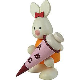 Kaninchen Emma mit Zuckertüte - 9 cm