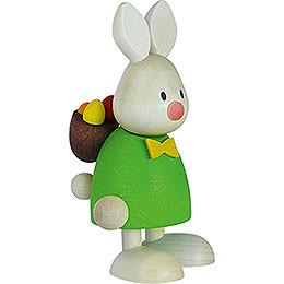 Kaninchen Max mit Rucksack und Eiern - 9 cm