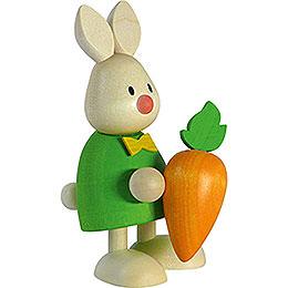 Kaninchen Max mit großer Möhre - 9 cm
