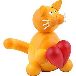 Katze Emmi mit Herz - 8 cm