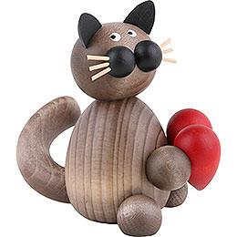 Katze Karli mit Herz - 8 cm