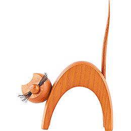 Katze ocker - stehend - 13 cm