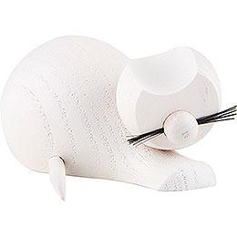Katze weiß - sitzend - 4 cm