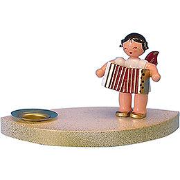 Kerzenhalter Engel mit Akkordeon - 7 cm