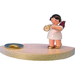 Kerzenhalter Engel mit Trompete - 7 cm