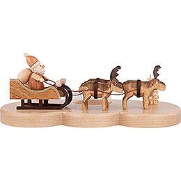 Kerzenhalter Ruprecht und seine Rentiere natur - 9 cm