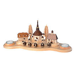 Kerzenhalter Seiffener Dorf - 16 cm