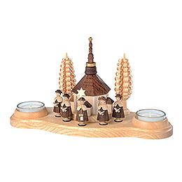 Kerzenhalter Seiffener Kirche - 11 cm