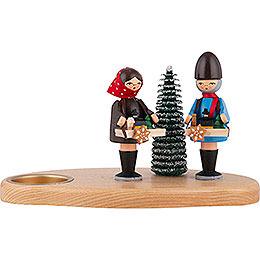 Kerzenhalter Striezelkinder bunt - 10 cm