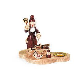 Kerzenhalter Weihnachtsmann mit Schlitten - 9 cm
