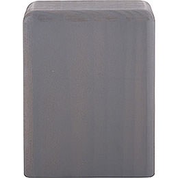 Klotz mittel grau - 8 cm