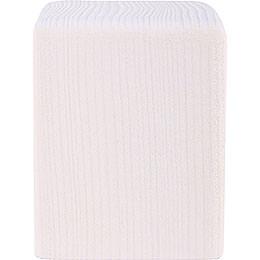 Klotz mittel weiß - 8 cm
