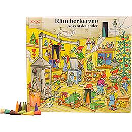 Knox Räucherkerzen-Adventskalender - Motiv 2018 - 24 cm