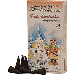 Knox Räucherkerzen - Original Erzgebirgische Räucherkerzen - Honig-Lebkuchen