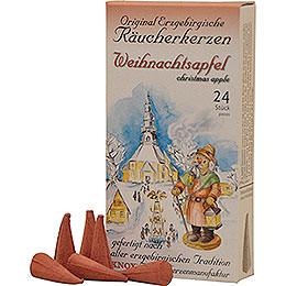 Knox Räucherkerzen - Original Erzgebirgische Räucherkerzen - Weihnachtsapfel