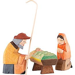 Krippenfiguren Heilige Familie 3-teilig - 8 cm