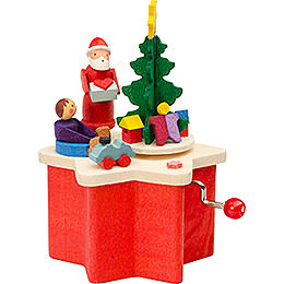 Kurbelspieldose Weihnachtsmann - 7 cm