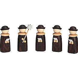 Kurrendefiguren, 5-teilig - 7 cm