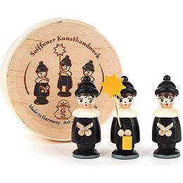 Kurrendefiguren schwarz in Spandose - 3,5 cm