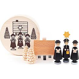 Kurrendefiguren schwarz in Spandose - 4 cm