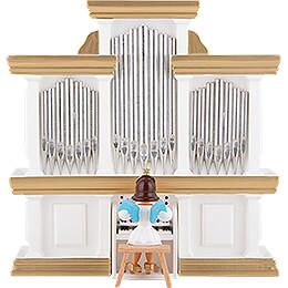 Kurzrockengel farbig an der Orgel - 15,5 cm