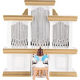 Kurzrockengel farbig an der Orgel mit Spielwerk - 15,5 cm