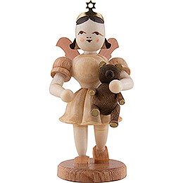 Kurzrockengel mit Teddy, natur - 6,6 cm