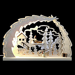 LED Candle Arch - Sled Hike - 40x28,5x4,5 cm / 15.7x11x1.7 inch
