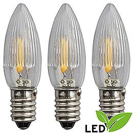 LED Rippled Bulb Filament - E10 Socket - 14-55V