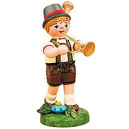 Lampionkind Junge mit Trompete - 8 cm