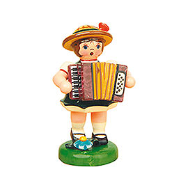 Lampionkind Mädchen mit Akkordeon - 8 cm