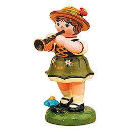 Lampionkind Mädchen mit Klarinette - 8 cm
