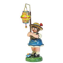 Lampionkind Mädchen mit kegelförmigem Lampion - 8 cm