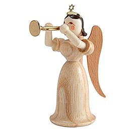 Langrockengel mit Trompete, natur - 6,6 cm