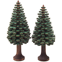 Layered Trees - Conifers Green - 2 pieces - 14 cm / 5.5 inch